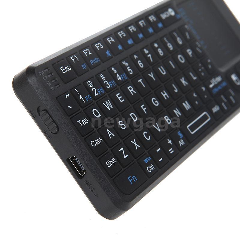 mini x1 2 4g clavier sans fil touchpad souris pour pc. Black Bedroom Furniture Sets. Home Design Ideas