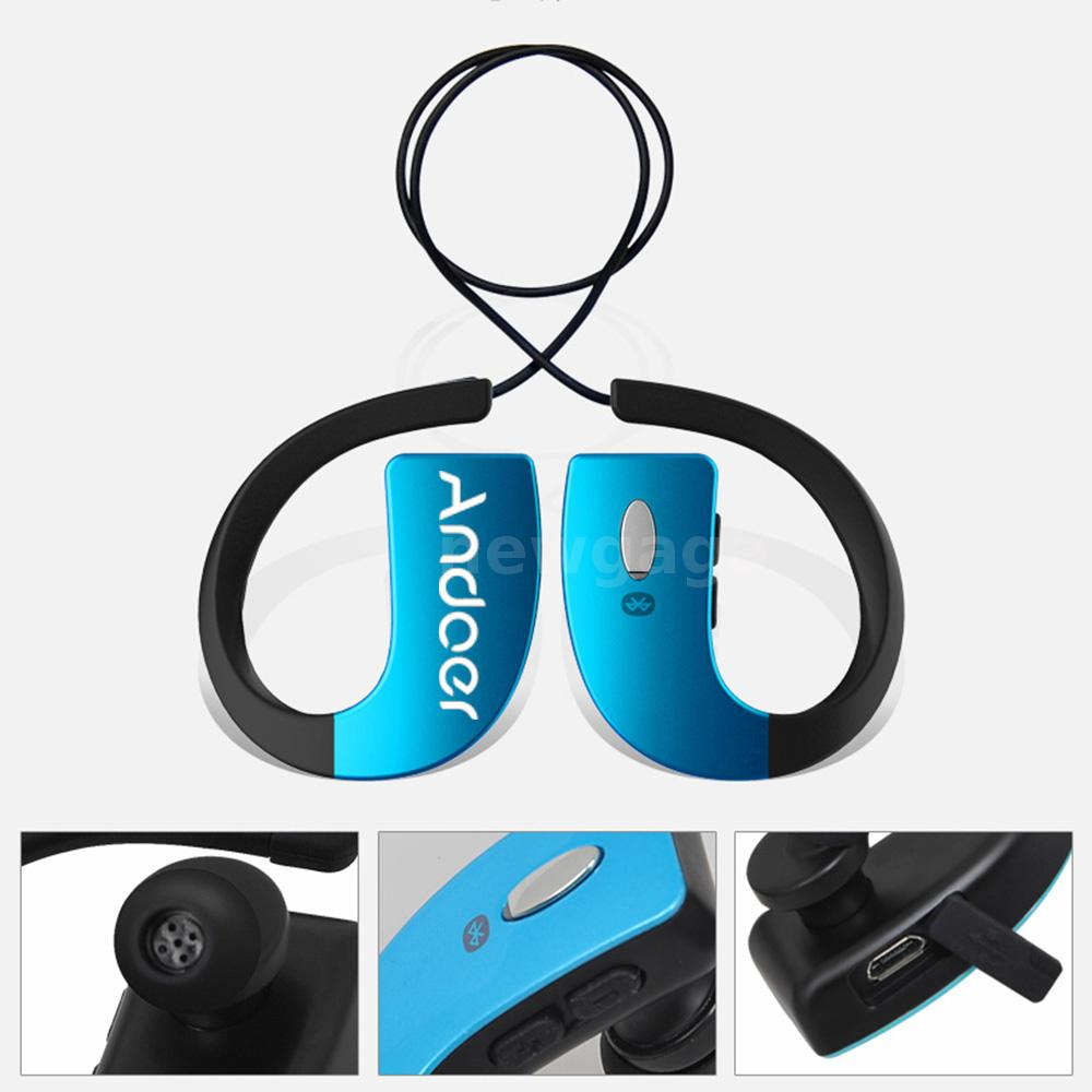 bluetooth wireless sports stereo waterproof headset headphone handsfree with mic ebay. Black Bedroom Furniture Sets. Home Design Ideas