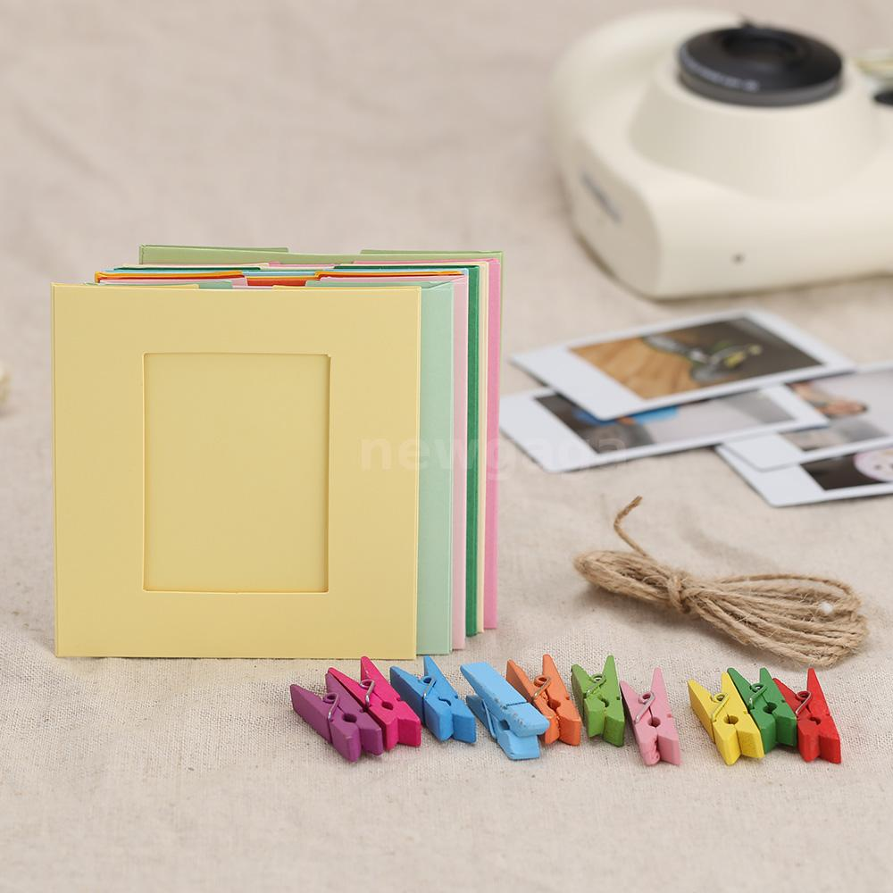 10Pcs Hanging Paper Frame Photo Album String Art Clips Rope Picture ...
