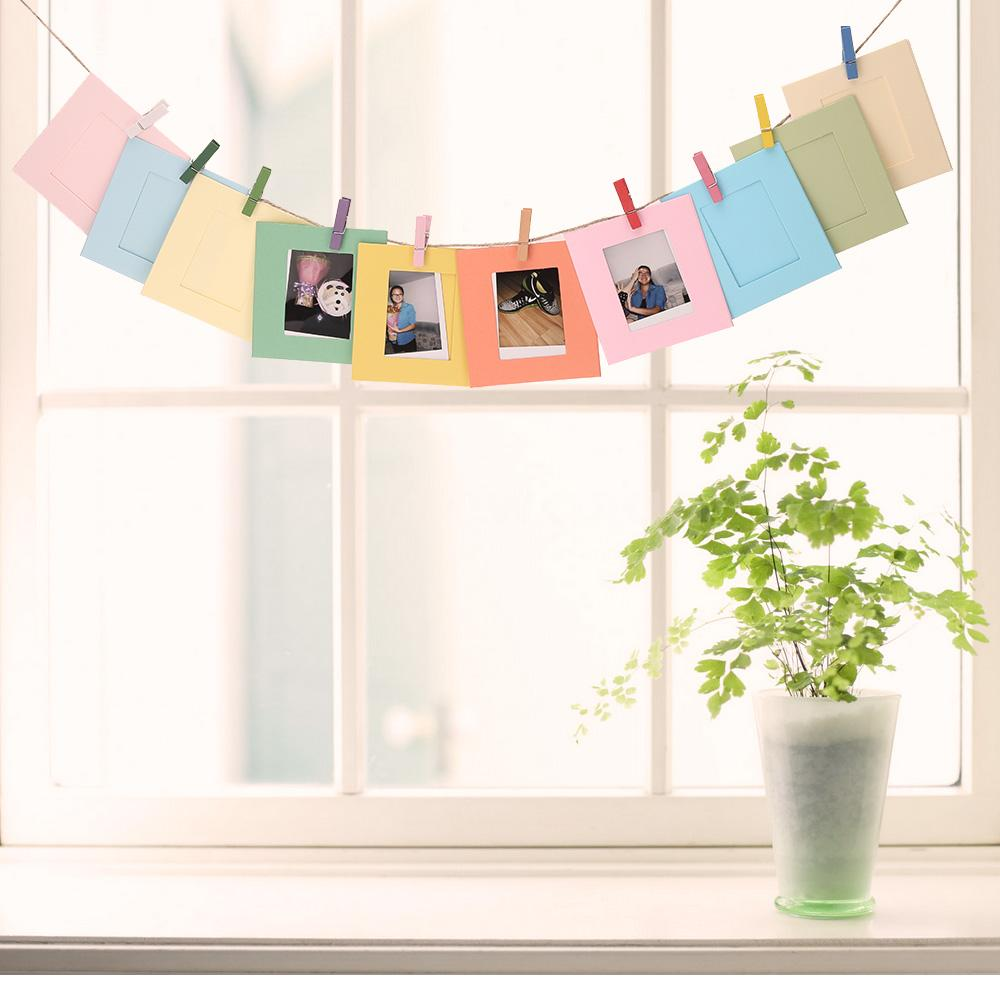 10pcs Hanging Paper Frame Photo Album String Art Clips