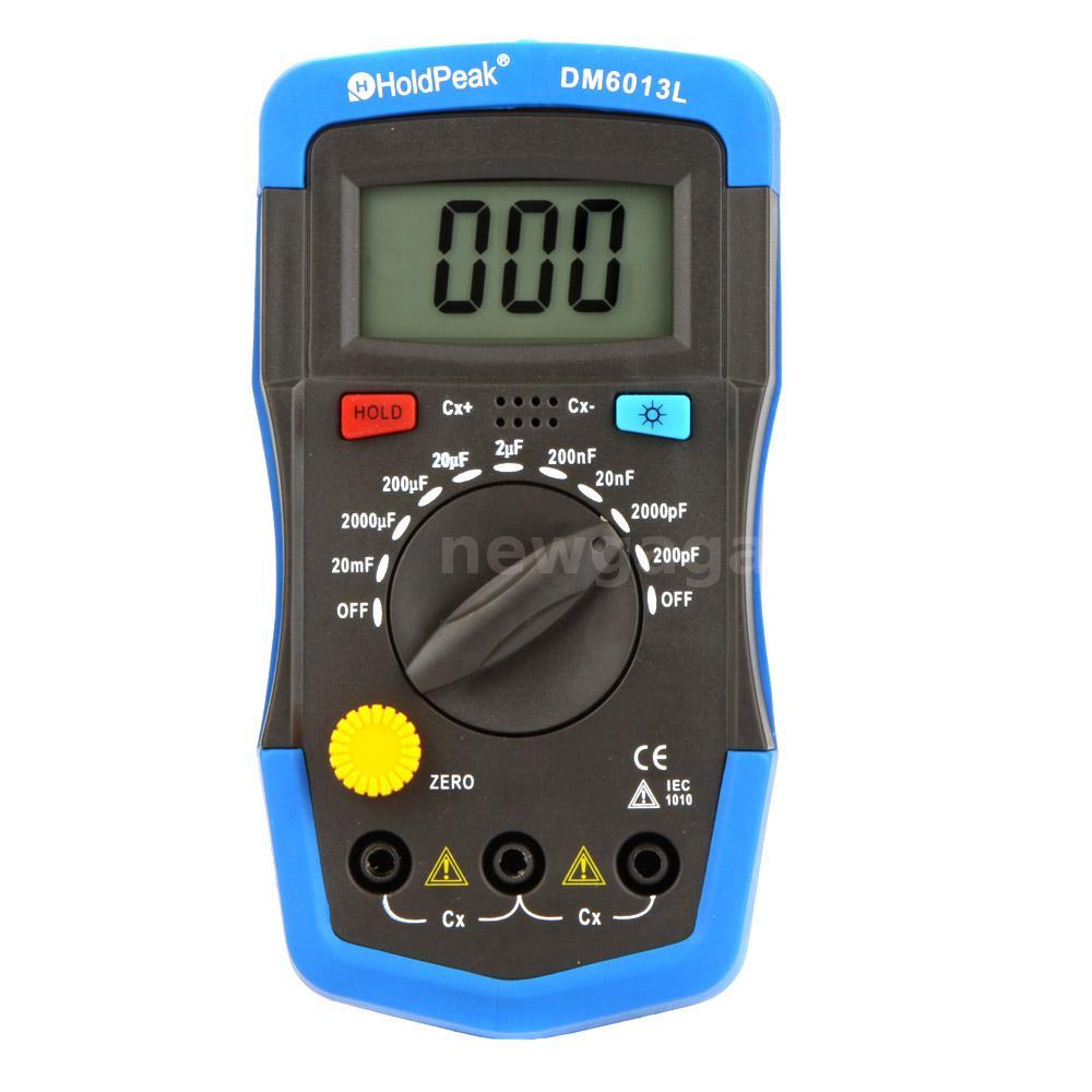 Digital Meter Tester : Dm l lcd handheld digital capacitor capacitance tester