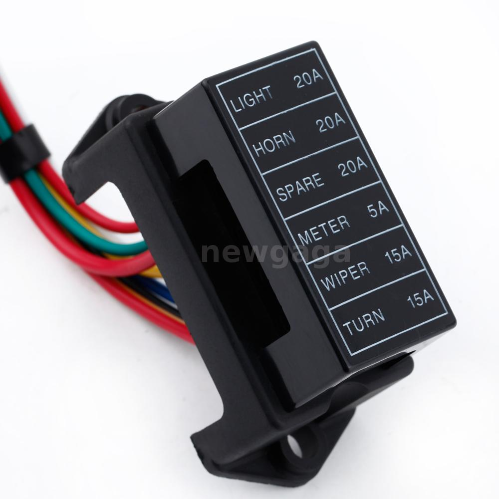 32v 6way circuit car boat bus tanker atc ato blade fuse. Black Bedroom Furniture Sets. Home Design Ideas